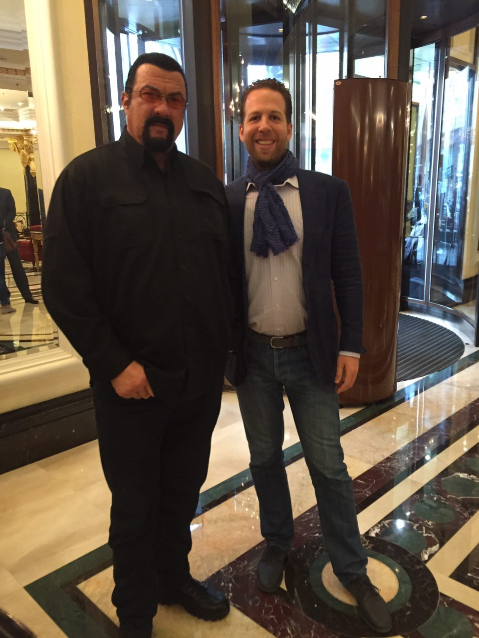 Steven Seagal with Gil Petersil